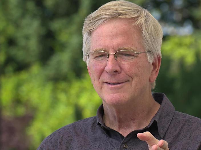 International tour guide Rick Steves, at home in Edmonds, Wash. / Credit: CBS News