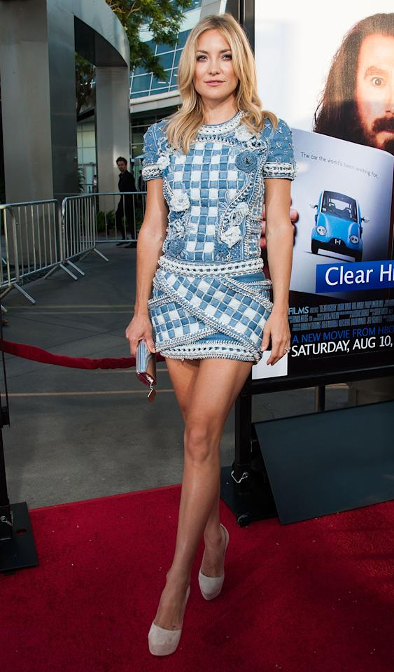 "HOLLYWOOD, CA - JULY 31: Kate Hudson arrives at the Premiere Of HBO Films' ""Clear History"" at ArcLight Cinemas Cinerama Dome on July 31, 2013 in Hollywood, California. (Photo by Valerie Macon/Getty Images)"