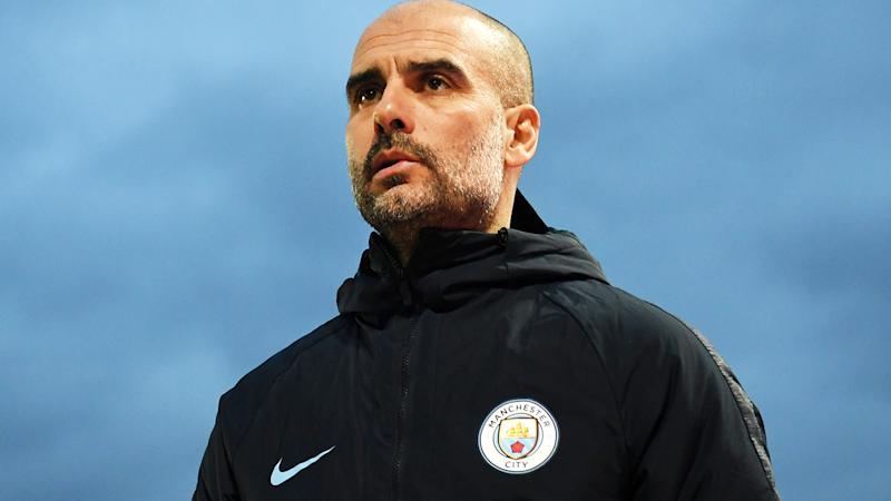 Pep Guardiola, pictured here during the FA Cup fifth round match between Newport County and Manchester City in February.