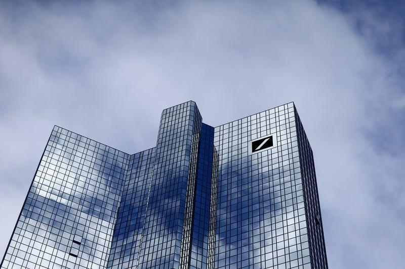 The Deutsche Bank headquarters are seen in Frankfurt