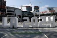 The LA 2024 team says it has secured $5.3 billion (4.7 billion euros) in private funding, which if delivered could set a new paradigm for hosting Games that have historically relied on taxpayer money (AFP Photo/KEVORK DJANSEZIAN)