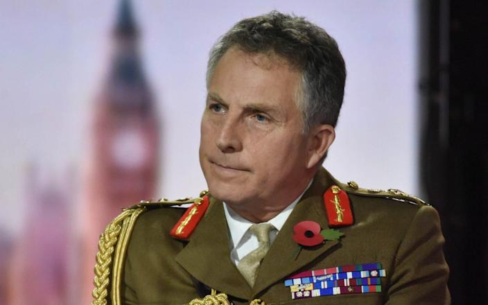 General Sir Nick Carter said he was supportive of a long-term funding package - Jeff Overs/BBC/Jeff Overs/BBC