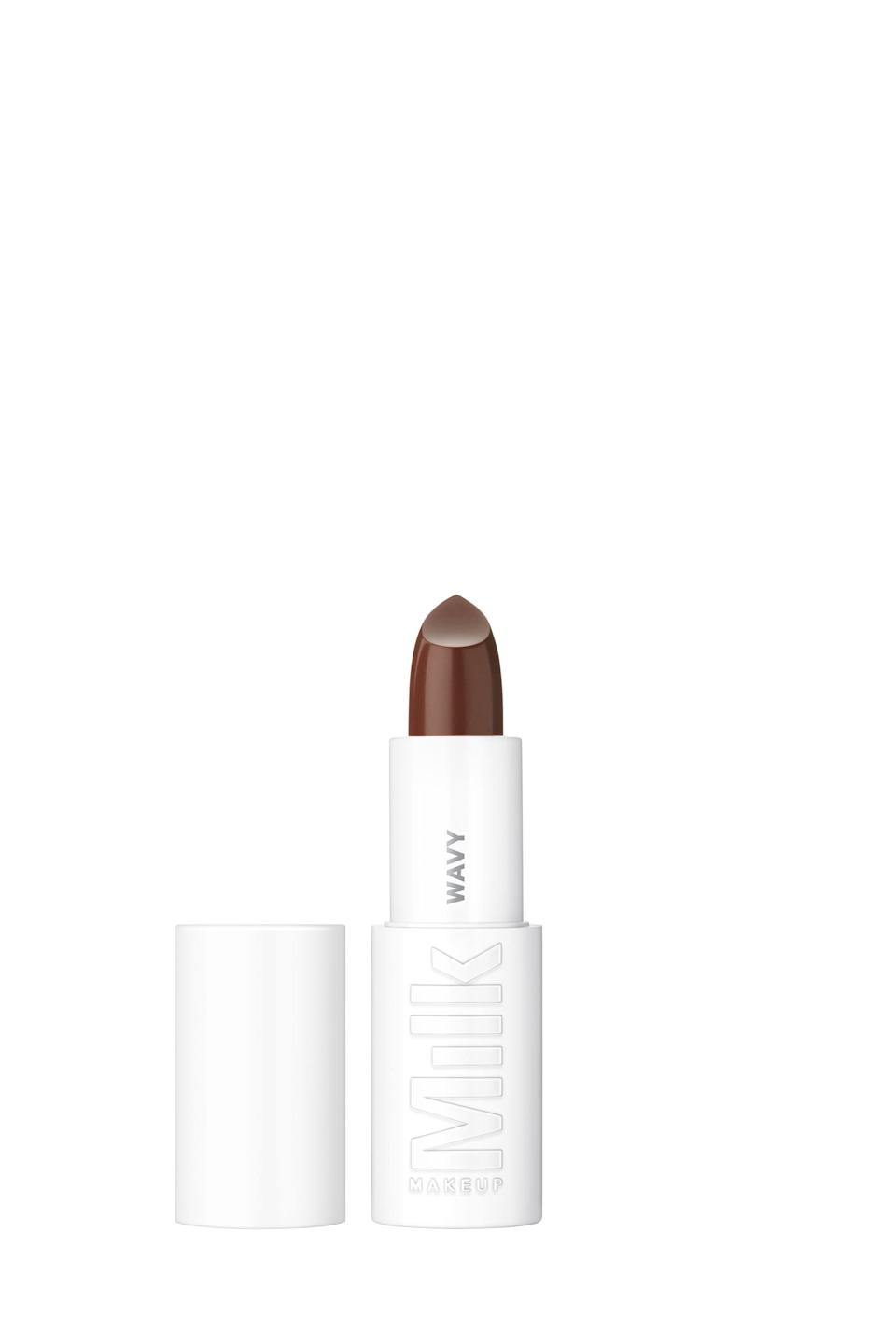 <p>Chic, all-white packaging aside, the <span>Milk Makeup Lip Color</span> ($24) has got us feeling some type of way. The lipsticks offer intense pigment and a smoothing effect thanks to their bamboo-derived blurring powder.</p>