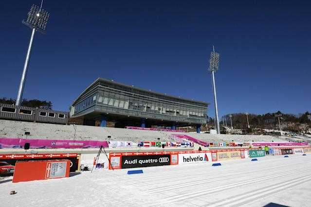 <p>The general view of the Alpensia Cross Country Skiing Centre, venue for the Cross County Skiing and Nordic Combined ahead of PyeongChang 2018 Winter Olympic Games on February 2, 2017 in Pyeongchang-gun, South Korea. (Photo by Chung Sung-Jun/Getty Images) </p>