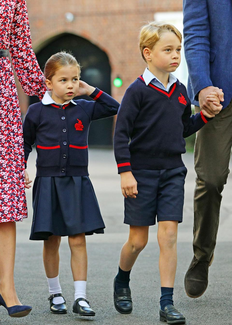 """<p>Like children around the world, Princess Charlotte and Prince George had to adapt to homeschooling — and its challenges.</p> <p>Kate said, """"<a href=""""https://people.com/royals/prince-george-upset-princess-charlotte-homeschool-projects-cooler-kate-middleton/"""" rel=""""nofollow noopener"""" target=""""_blank"""" data-ylk=""""slk:George gets very upset"""" class=""""link rapid-noclick-resp"""">George gets very upset</a> because he just wants to do all of Charlotte's projects. Spider sandwiches are far cooler than literacy work!""""</p>"""