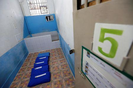A view of a cell with a toilet, where five inmates sleep, inside the long-term sentence zone inside Klong Prem high-security prison in Bangkok, Thailand July 12, 2016. REUTERS/Jorge Silva