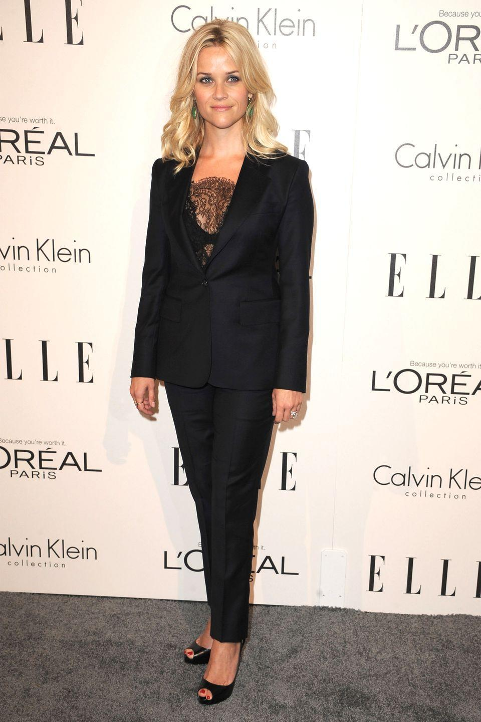 <p>Sometimes a woman just needs a well-fitting suit, and such was the case at Elle's Women in Hollywood Event in Los Angeles. </p>