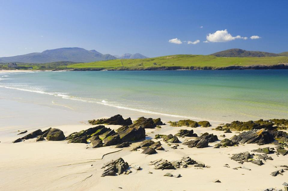 "<p>The beaches of northern Scotland could have filled this list on their own, but this might just be the pick. Teetering at the north-western edge of the mainland, it's a (somewhat) sheltered bay of white sand and psychedelically Caribbean-like turquoise waters overlooked by a ruined church and graveyard. </p><p>After roaming the sands, wander into the dunes over Faraid Head to the north, happily alone at the edge of the world.</p><p><strong>Where to stay: </strong>Situated in Balnakeil in the Highlands region, <a href=""https://go.redirectingat.com?id=127X1599956&url=https%3A%2F%2Fwww.booking.com%2Fhotel%2Fgb%2Fbalnakeil-house.en-gb.html%3Faid%3D2070935%26label%3Ddog-friendly-beaches&sref=https%3A%2F%2Fwww.countryliving.com%2Fuk%2Ftravel-ideas%2Fdog-friendly%2Fg35163642%2Fdog-friendly-beaches%2F"" rel=""nofollow noopener"" target=""_blank"" data-ylk=""slk:Balnakeil House"" class=""link rapid-noclick-resp"">Balnakeil House</a> is a breathtaking mountainside self-catering property that will certainly leave both you and your dog with enough space to run around. </p><p><a class=""link rapid-noclick-resp"" href=""https://go.redirectingat.com?id=127X1599956&url=https%3A%2F%2Fwww.booking.com%2Fhotel%2Fgb%2Fbalnakeil-house.en-gb.html%3Faid%3D2070935%26label%3Ddog-friendly-beaches&sref=https%3A%2F%2Fwww.countryliving.com%2Fuk%2Ftravel-ideas%2Fdog-friendly%2Fg35163642%2Fdog-friendly-beaches%2F"" rel=""nofollow noopener"" target=""_blank"" data-ylk=""slk:CHECK PRICES"">CHECK PRICES</a></p>"