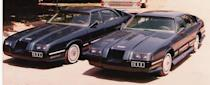 "<p>For <em>RoboCop,</em> the basic body of the 6000 SUX was a 1977 Oldsmobile Cutlass Supreme, chosen for its four-door, futuristic look. Two complete, fully operational SUX cars were built with parts from a third one that production people blew up in Dallas. The actual auto bodies were made from fiberglass components, but the engine and interior were left unchanged from the original Oldsmobile. The wing mirrors were made specially for the car, check them out for yourself in this <a href=""https://www.youtube.com/watch?v=fl8mQhxhE_Q"" rel=""nofollow noopener"" target=""_blank"" data-ylk=""slk:commercial."" class=""link rapid-noclick-resp"">commercial.</a> </p><p>A little history lesson is required to explain the choice of the name 6000 SUX, because it wasn't just a random number. Director Paul Verhoeven spotted a Ford Taurus pass by set one day and decided it should be the car used in the film by the police and RoboCop. Ford was not interested in any way whatsoever to be involved with the picture and declined to provide them with any cars to use in return for free publicity. Production had to purchase all cars used in the film, but they were able to take a swipe at one of Taurus's main competitors at the time, GM's Pontiac 6000, in naming the 6000 SUX.</p><p><a class=""link rapid-noclick-resp"" href=""https://www.amazon.com/Robocop-Peter-Weller/dp/B00FY84E9G/?tag=syn-yahoo-20&ascsubtag=%5Bartid%7C10054.g.27421711%5Bsrc%7Cyahoo-us"" rel=""nofollow noopener"" target=""_blank"" data-ylk=""slk:AMAZON"">AMAZON</a></p>"
