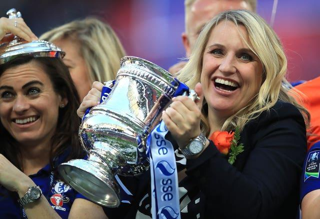 Hayes' Chelsea won a second WSL and FA Cup double in 2018 (Adam Davy/PA).