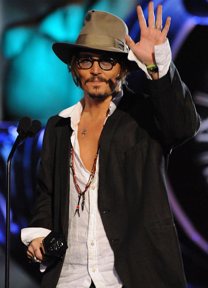 """<a href=""""http://movies.yahoo.com/movie/contributor/1800019485"""">Johnny Depp</a> at the 2009 Spike TV Scream Awards in Los Angeles - 10/17/2009"""