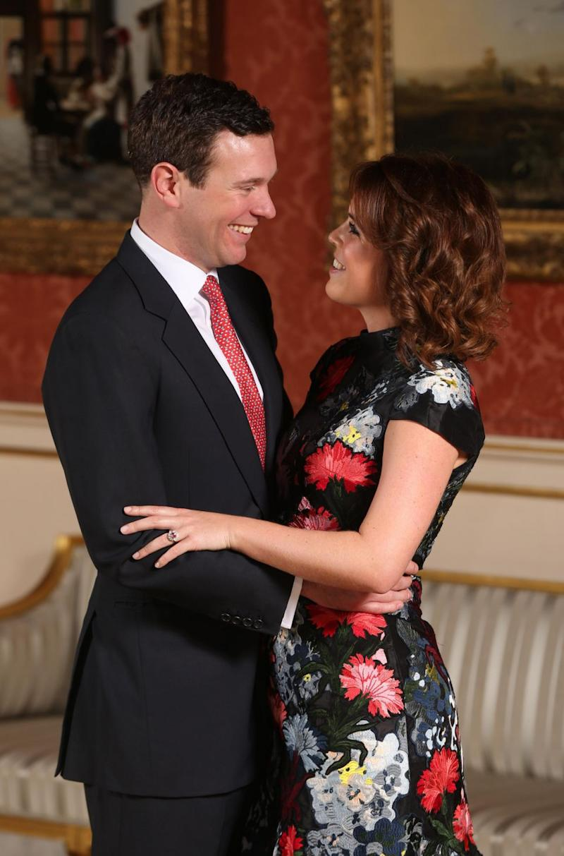 Eugenie and her partner of seven years pair Jack Brooksbank will likely marry in October. Photo: Getty