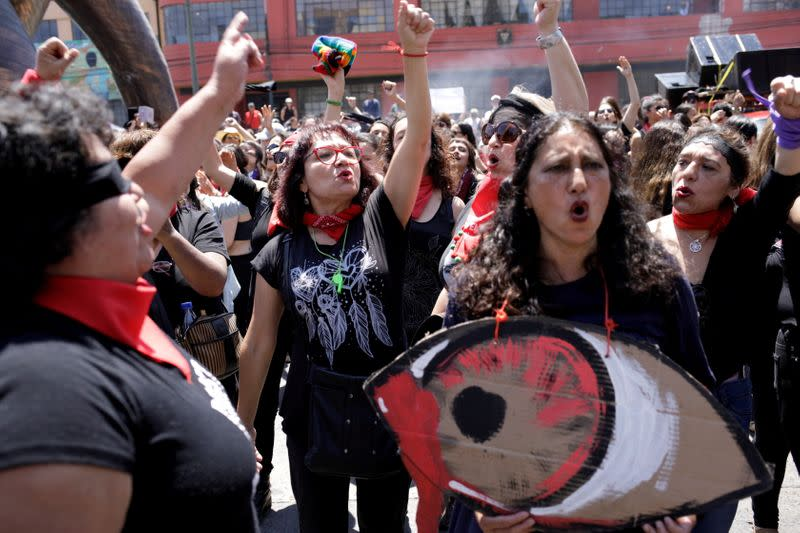 FILE PHOTO: Protest against Chile's government, while lawmakers debate and vote on an impeachment motion against President Sebastian Pinera, in Valparaiso