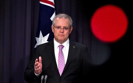 Prime Minister Scott Morrison speaks to the media during a press conference at Parliament House in Canberra, Australia, October 16, 2018. AAP/Mick Tsikas/via REUTERS