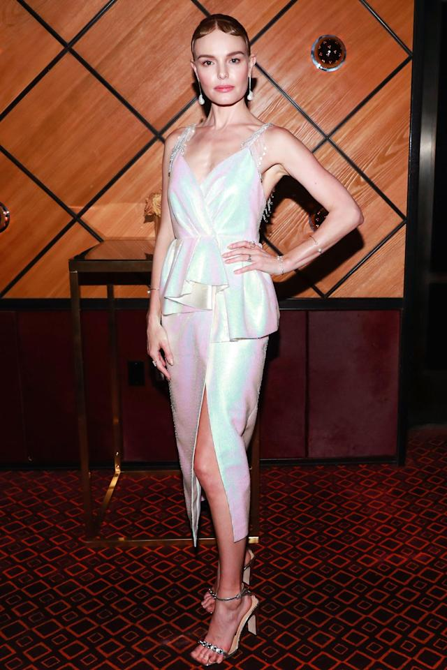<p>Kate Bosworth<br> The Standard and Olivier Rousteing host The Boom Boom Afterparty, New York, USA – 07 May 2018<br> (Photo: Shutterstock) </p>