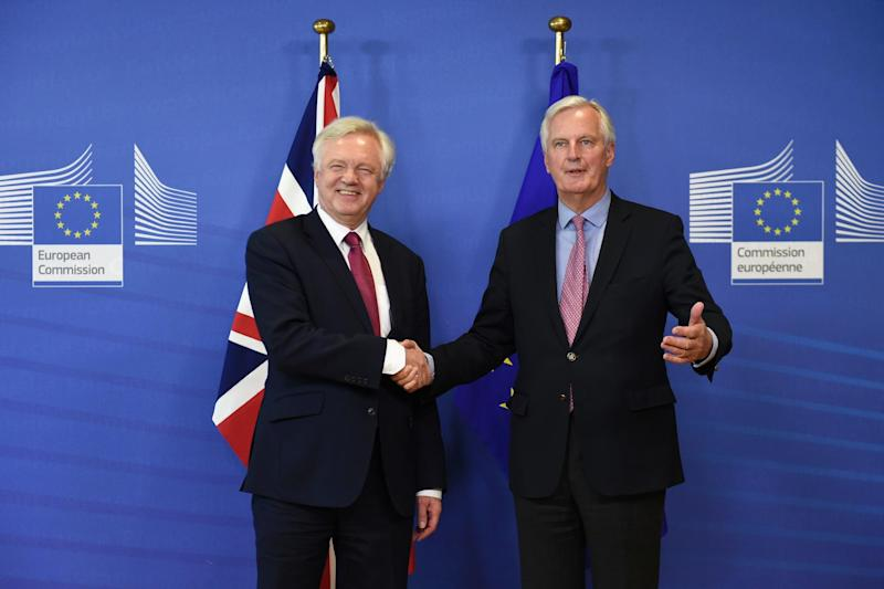 Davis and Barnier begin the hunt for that elusive 'deep and special partnership': AFP/Getty