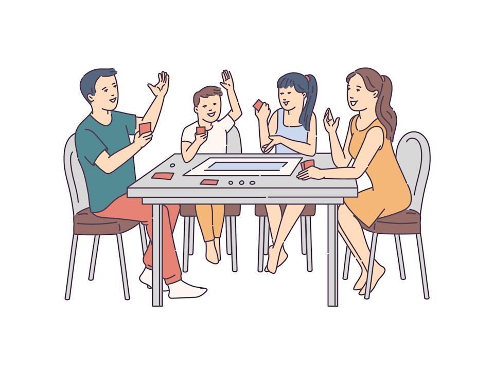 Card and board games make for a good family bonding time!