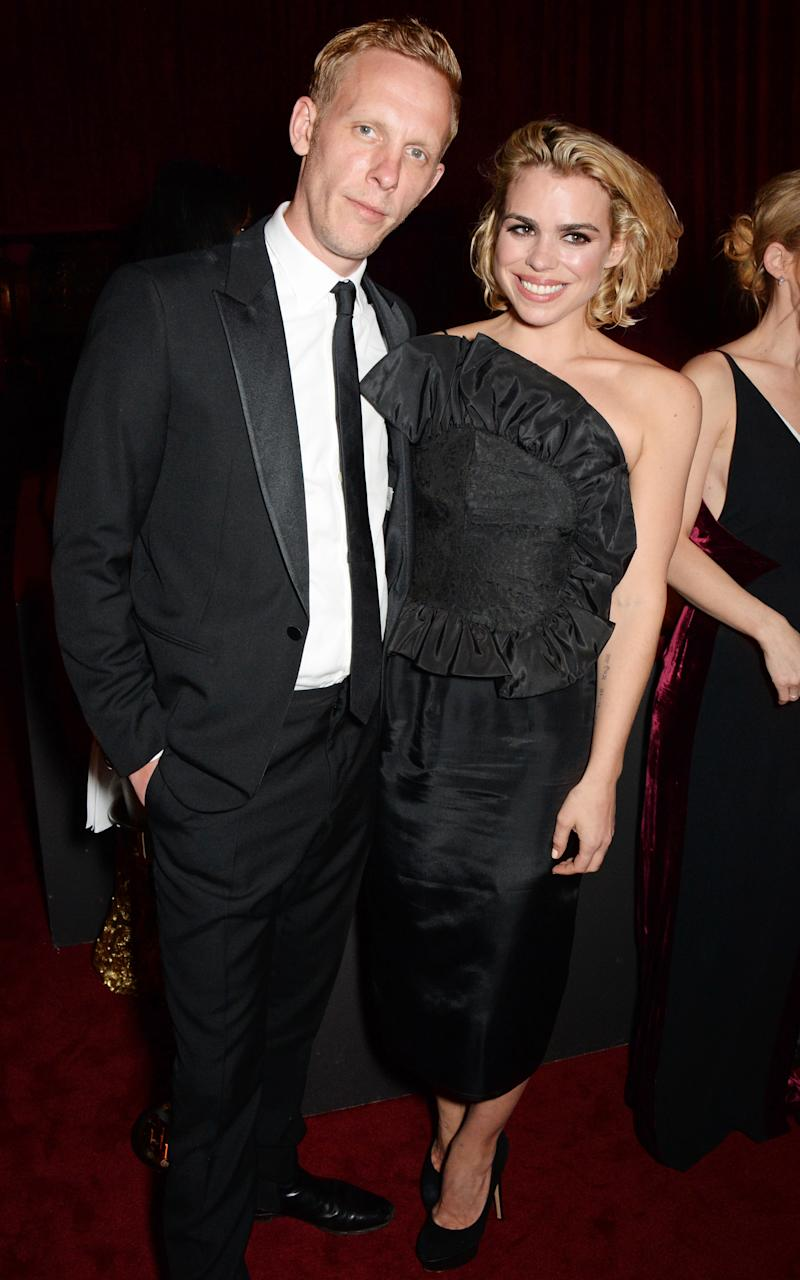Laurence Fox with then-wife Billie Piper at the 60th London Evening Standard Theatre Awards in November 2014 [Photo: Getty]