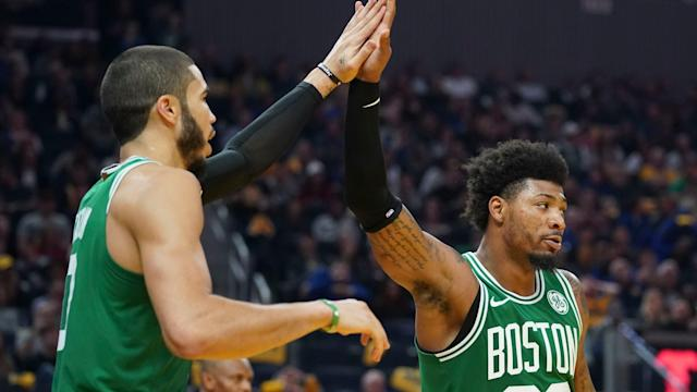 NBA-best Celtics hold off Warriors late for 10th straight win