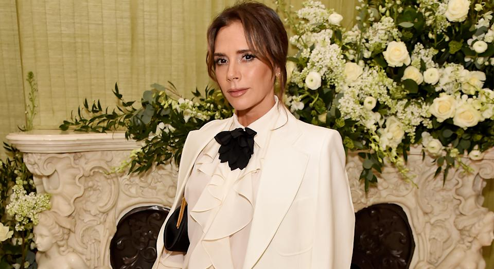 Victoria Beckham reveals the secret to her glowing skin is a Priming Moisturiser from her namesake beauty label. (Getty Images)
