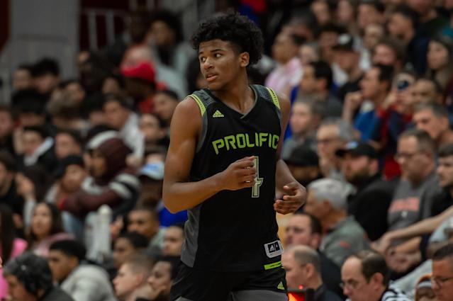 Jalen Green has a chance to be the No. 1 overall pick in the 2021 NBA draft. (Photo by John Jones/Icon Sportswire via Getty Images)