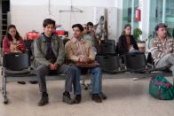 """This image released by Sony Pictures Classics shows Christian Vazquez, left, and Armando Espitia in a scene from """"I Carry You With Me."""" (Alejandro Lopez Pineda/Sony Pictures Classics via AP)"""