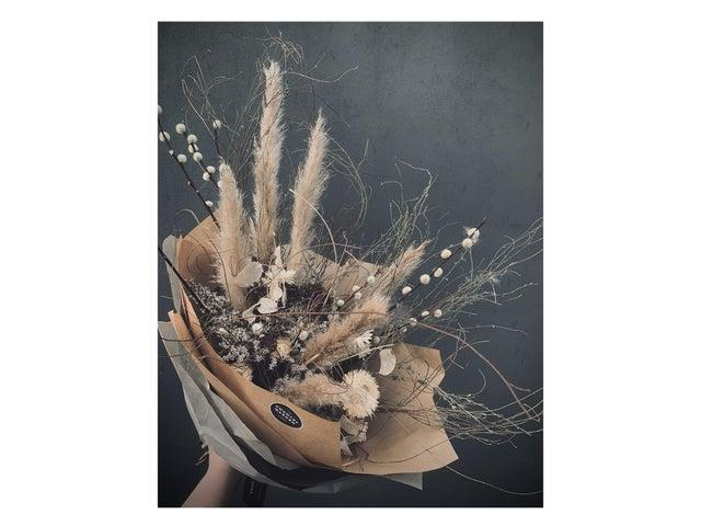 Dried flowers last far longer than traditional bouqetsThe Country Garden Forest