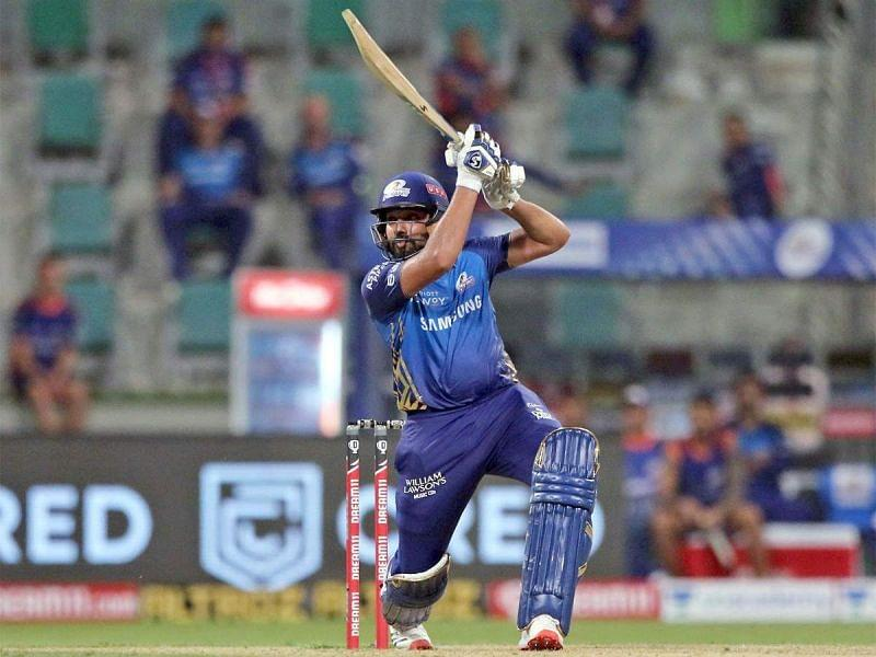 Rohit Sharma's 80 off 54 balls took him to second on the 'Orange Cap' list (Image Credits: Mumbai Mirror)