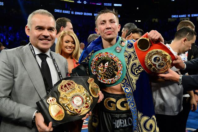 Gennady Golovkin was scheduled to face Canelo Alvarez on May 5 in Las Vegas. (USA Today Sports)