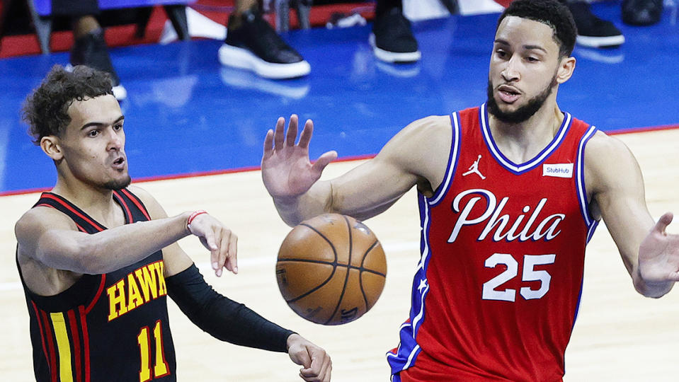 Trae Young lit up Ben Simmons and the Philadelphia 76ers in game one of the Eastern Conference semi-finals.