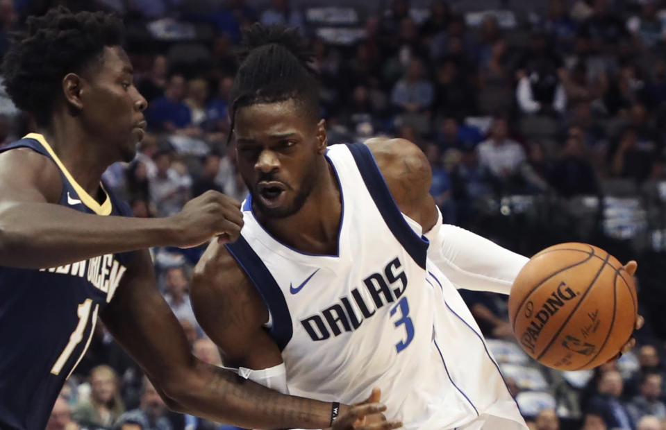 """<a class=""""link rapid-noclick-resp"""" href=""""/nba/players/5157/"""" data-ylk=""""slk:Nerlens Noel"""">Nerlens Noel</a> will try to re-ignite his career with the Thunder. (AP)"""