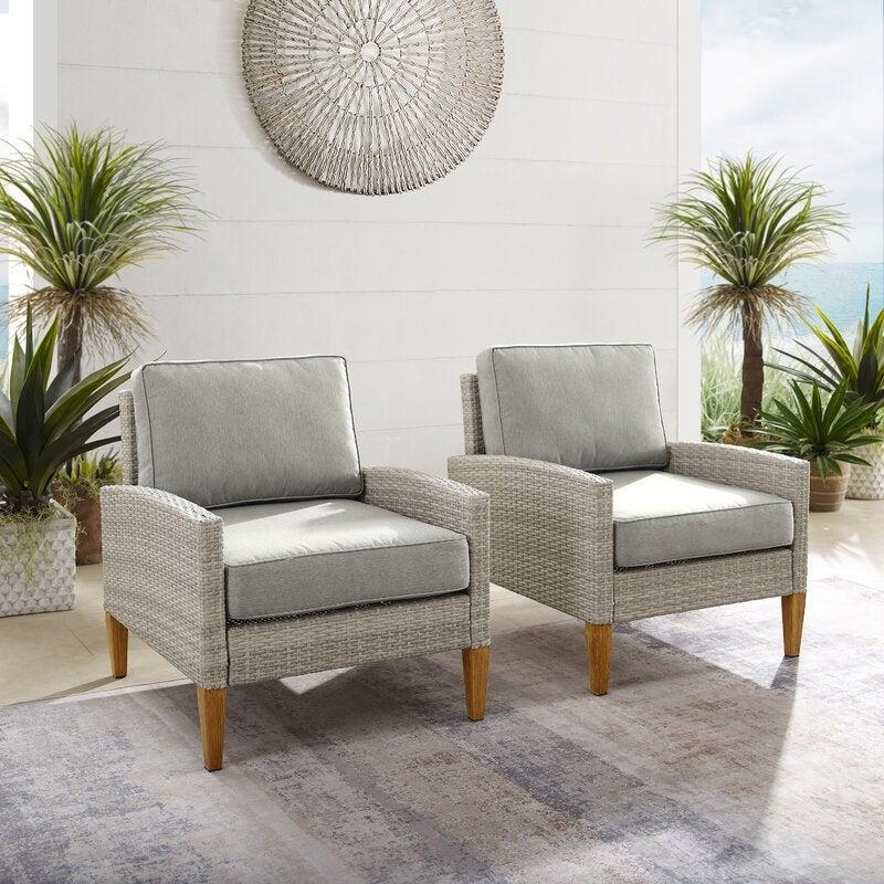 """<br><br><strong>Mercury Row</strong> Behn Outdoor Patio Chair with Cushions (Set of 2), $, available at <a href=""""https://go.skimresources.com/?id=30283X879131&url=https%3A%2F%2Fwww.wayfair.com%2Foutdoor%2Fpdp%2Fmercury-row-behn-outdoor-patio-chair-with-cushions-w004764077.html"""" rel=""""nofollow noopener"""" target=""""_blank"""" data-ylk=""""slk:Wayfair"""" class=""""link rapid-noclick-resp"""">Wayfair</a>"""