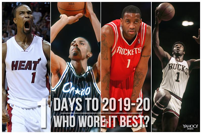 Which NBA player wore No. 1 best?
