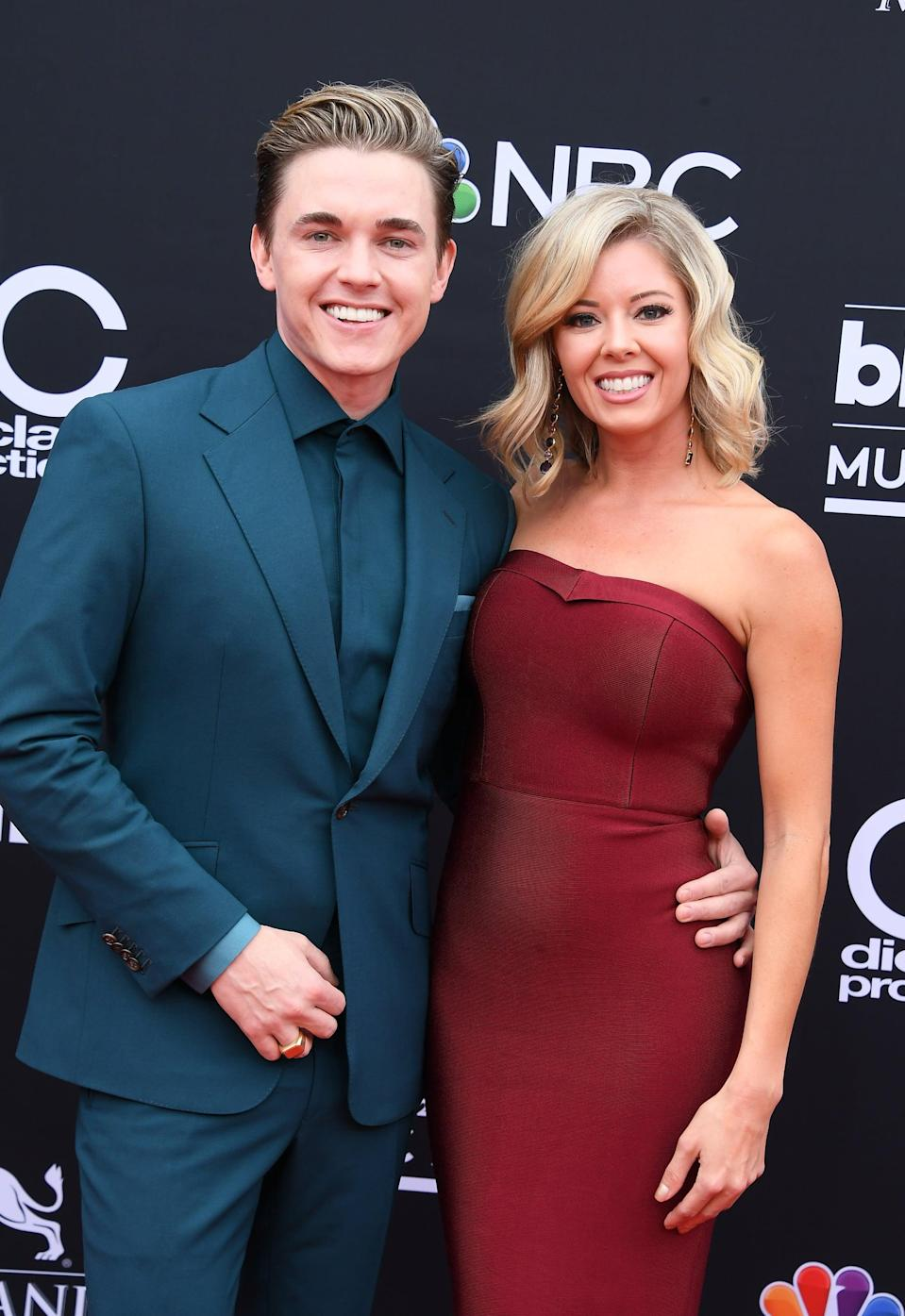 "<p>In September 2019, the ""Beautiful Soul"" singer <a href=""https://www.usmagazine.com/celebrity-news/news/jesse-mccartney-is-engaged-to-katie-peterson-details/"" class=""link rapid-noclick-resp"" rel=""nofollow noopener"" target=""_blank"" data-ylk=""slk:popped the question"">popped the question</a> while dining with the <strong>Step Up Revolution</strong> actress in Beverly Hills, <strong>Us Weekly</strong> confirms. The duo has been together since 2012.</p>"