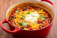 """<p>As soon as the cool weather hits, we start thinking about the true star of fall: veggies. We crave cruciferous superfoods like cauliflower and kale, and break out our besties like broccoli and butternut squash. These hearty <a href=""""https://www.delish.com/cooking/g1486/healthy-vegetarian-dinner-recipes/"""" rel=""""nofollow noopener"""" target=""""_blank"""" data-ylk=""""slk:vegetarian recipes"""" class=""""link rapid-noclick-resp"""">vegetarian recipes</a> are flavorful, filling, and guaranteed to hit the spot—<a href=""""https://www.delish.com/cooking/g3047/easy-chili-recipes/"""" rel=""""nofollow noopener"""" target=""""_blank"""" data-ylk=""""slk:chilis"""" class=""""link rapid-noclick-resp"""">chilis</a>, <a href=""""https://www.delish.com/cooking/g1702/casserole-recipes/"""" rel=""""nofollow noopener"""" target=""""_blank"""" data-ylk=""""slk:casseroles"""" class=""""link rapid-noclick-resp"""">casseroles</a>, and <a href=""""https://www.delish.com/cooking/recipe-ideas/g3176/weeknight-pasta-dinners/"""" rel=""""nofollow noopener"""" target=""""_blank"""" data-ylk=""""slk:pastas"""" class=""""link rapid-noclick-resp"""">pastas</a> included. For more fall cooking ideas, check out our favorite <a href=""""https://www.delish.com/cooking/g4783/easy-vegan-recipes/"""" rel=""""nofollow noopener"""" target=""""_blank"""" data-ylk=""""slk:vegan recipes"""" class=""""link rapid-noclick-resp"""">vegan recipes</a> and <a href=""""https://www.delish.com/cooking/recipe-ideas/g2957/easy-fall-dinners/"""" rel=""""nofollow noopener"""" target=""""_blank"""" data-ylk=""""slk:fall dinner recipes"""" class=""""link rapid-noclick-resp"""">fall dinner recipes</a>!</p>"""
