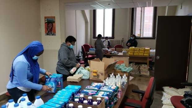 The Africa Centre is among 12 agencies that have been helping people by preparing and delivering food hampers and other supplies.