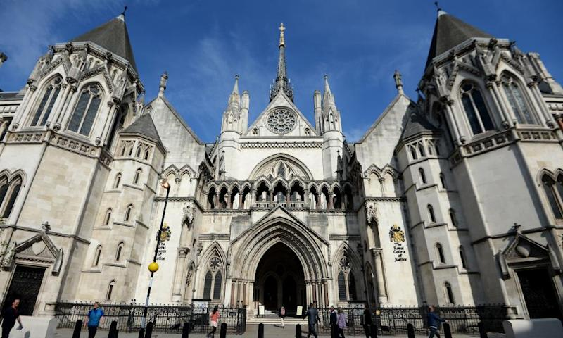 The Royal Courts of Justice in London.