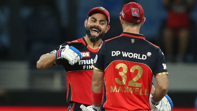 Virat Kohli was pivotal in steering RCB to a defendable total, scoring a half-century which saw him reach the 10000-run mark in T20 Cricket. He was ably aided by Glenn Maxwell, who scored 56 runs. RCB eventually managed to post a total of 165, after losing wickets in quick succession towards the end of their innings. Glenn Maxwell, who built a good partnership with Kohli and then continued to score freely after the RCB skipper departed, scored 56 runs. RCB eventually managed to post a total of 165, after losing wickets in quick succession towards the end of their innings. SportzPics