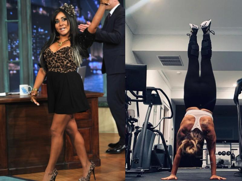 Snooki showed off her ripped shoulders and back on Instagram. (Photos: Getty Images/Instagram)