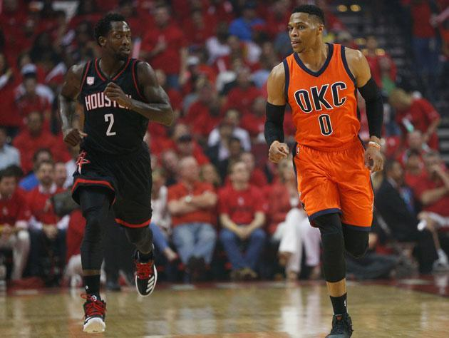 Russell Westbrook can't hear anything. (Getty Images)