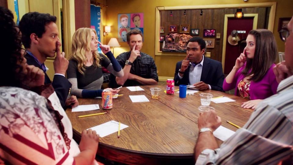 <p> The episode that spawned one of the best gifs of all time. 'Remedial Chaos Theory' sees all seven members of the group make their way to Troy and Abed's apartment for a housewarming party. Once the pizza arrives, Jeff convinces everyone to roll a dice to see who has to go down to pick it up. </p> <p> After that, the episode breaks into seven different timelines, showing what would have happened if each person went to get the pizza. The results are as hilarious as they are different. 'Remedial Chaos Theory' happens at Community's highest point – before network drama and cancellations took their toll on the cast and crew. It's creative, eye-catching, surprising, and funny all at the same time, making it the very best episode of Community. </p>