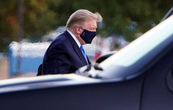 PHOTO: President Donald Trump arrives at Walter Reed National Military Medical Center by helicopter after testing positive for the coronavirus disease (COVID-19), in Bethesda, Maryland, Oct. 2, 2020. (Joshua Roberts/Reuters)