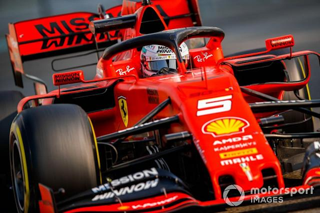 "Sebastian Vettel, Ferrari SF90 <span class=""copyright"">Joe Portlock / Motorsport Images</span>"