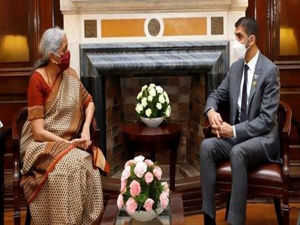 Dr Thani Bin Ahmed Al Zeyoudi, Minister of State for Foreign Trade, UAE, calls on Union Finance Minister Nirmala Sitharaman