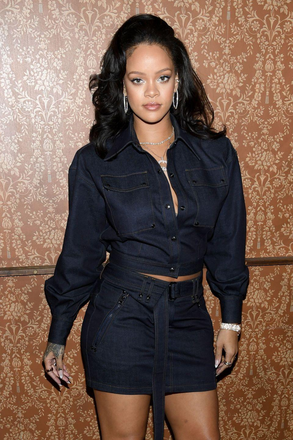 """<p>On a classic fall day in October 2016, Rihanna took down all of her exes – Drake, Chris Brown, Matt Kemp, and even Leonardo DiCaprio (rumored) – with a single <a href=""""https://www.instagram.com/p/BLU0-MyAeOE/"""" rel=""""nofollow noopener"""" target=""""_blank"""" data-ylk=""""slk:Instagram"""" class=""""link rapid-noclick-resp"""">Instagram</a>, and she didn't even have to show her face. A text-only gram that says, </p><p>'None of my exs (sic) are married or in happy relationships so it's safe to say that I wasn't da problem lol,' has received close to 1 million likes. Is Rihanna the best or what?</p>"""