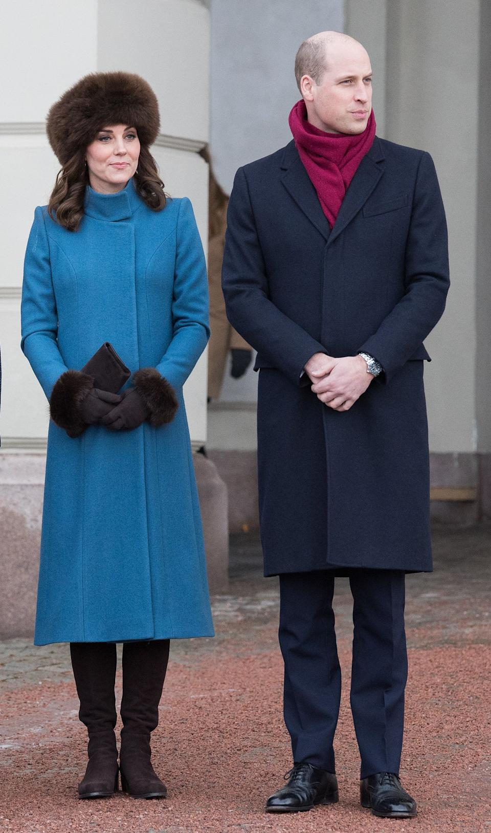The royalsvisit the Princess Ingrid Alexandra Sculpture Park in Oslo, Norway, on Feb. 1.