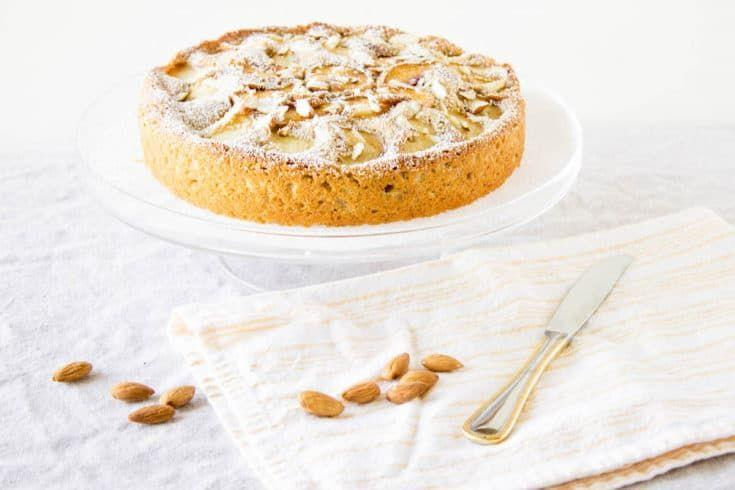 """<p>The cinnamon, fresh peaches, and toasted almonds combine to to make a perfumed and delicate cake.</p><p>Get the <a href=""""https://www.monpetitfour.com/peach-almond-cake/"""" rel=""""nofollow noopener"""" target=""""_blank"""" data-ylk=""""slk:Flourless Peach Almond Cake"""" class=""""link rapid-noclick-resp"""">Flourless Peach Almond Cake</a> recipe.</p><p>Recipe from <a href=""""https://www.monpetitfour.com/"""" rel=""""nofollow noopener"""" target=""""_blank"""" data-ylk=""""slk:Mon Petite Four"""" class=""""link rapid-noclick-resp"""">Mon Petite Four</a>.</p>"""