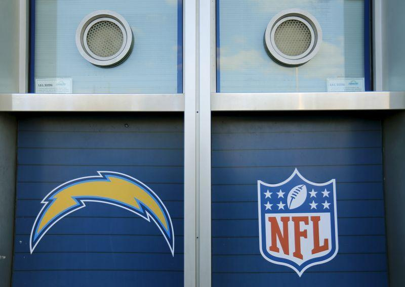 San Diego Chargers ticket windows are shown at Qualcomm Stadium in San Diego, California
