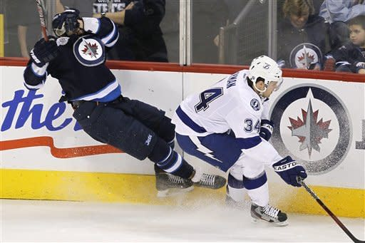 Ladd has 2 goals, assist in Jets' win over TB