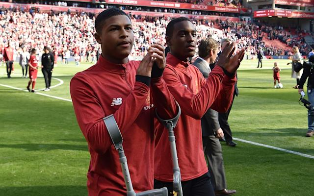 Liverpool's dispute with Borussia Monchengladbach following an alleged illegal approach for teenager Rhian Brewster has intensified with the postponement of a prestigious pre-season fixture between the clubs. The German club were heading to Anfield on August 7 for a curtain-raiser to the 2018-19 season. But such is the acrimony sparked by the pursuit of Brewster, Liverpool have withdrawn the invitation and written to the Bundesliga side to issue a warning about their conduct. Liverpool believe Brewster has been spoken to without permission. Monchengladbach's Sporting Director Max Eberl has made no secret of his admiration for the emerging talent in English football. On Friday, Monchengladbach signed 19-year-old Keanan Bennetts from Tottenham Hotspur. Liverpool believe the chase for Brewster has gone too far and they are ready to take the matter to Fifa. Brewster emerged as one of the most exciting teenage footballers in the world over the last 12 months, his reputation soaring having won the Golden Boot when England won the Under 17 World Cup in India. Brewster shone as England's under-17s won the World Cup last year Credit: Reuters Liverpool offered Brewster his first professional contract at the earliest opportunity – when Academy players turn 18 – but it remains unsigned as other interest parties came forward. Monchengladbach would appear to be most advanced and their pursuit has certainly riled Liverpool. But Brewster is entering the third year of a scholarship deal so he is still under contract and does not have permission to speak to other clubs. Jadon Sancho is among a host of English youngsters that have moved to Germany Credit: AFP German clubs are taking greater interest in England's emerging youngsters, believing they can offer a pathway to first team football at the highest level which the top Premier League managers cannot guarantee. The most high profile transfer of this type so far was the £10 million deal taking Jadon Sancho from Manchester City to Borussia Dortmund. Liverpool, however, are unwilling to enter negotiations with Monchengladbach due to their unhappiness with their conduct.